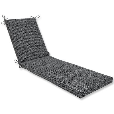 Herringbone Chaise Lounge Cushion Fabric: Black