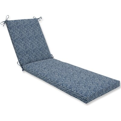 Herringbone Chaise Lounge Cushion Fabric: Blue