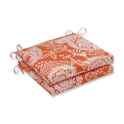 Addie Outdoor Barstool Cushion Fabric: Orange