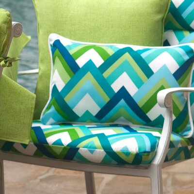 Isenhour Indoor/Outdoor Lumbar Pillow Fabric: Resort Peacock, Size: 5 H x 18.5 W x 11.5 D