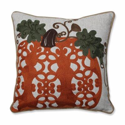 Chandelle Embroidered Pumpkin Throw Pillow