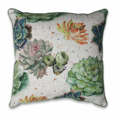 Bonniebrook Succulent Plants Throw Pillow