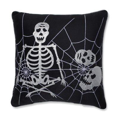 Skeleton in Web Cotton Throw Pillow