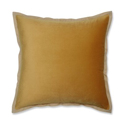 Benson Flange Loden Throw Pillow Color: Yellow