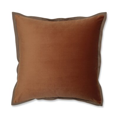 Benson Flange Loden Throw Pillow Color: Orange