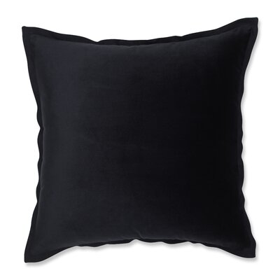 Benson Flange Loden Throw Pillow Color: Black