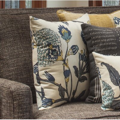 Haverstraw Auretta Peacock Throw Pillow Size: 16.5 x 16.5