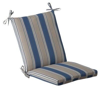 Outdoor Lounge Chair Cushion Fabric: Blue/Tan Striped