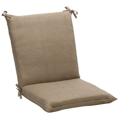 Pillow Perfect Outdoor Squared Chair Cushion - Color: Taupe Textured Solid at Sears.com
