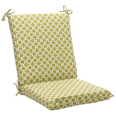 Outdoor Lounge Chair Cushion Fabric: Green/White Geometric