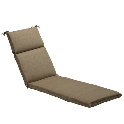 Textured Solid Outdoor Chaise Lounge Cushion Fabric: Taupe Textured Solid
