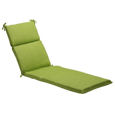 Textured Solid Outdoor Chaise Lounge Cushion Fabric: Green Textured Solid