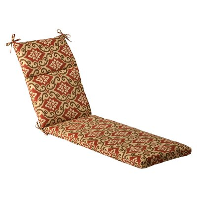 Damask Outdoor Chaise Lounge Cushion