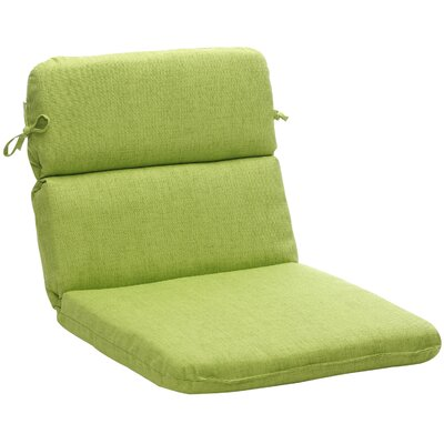 Pillow Perfect Outdoor Rounded Chair Cushion - Color: Green Textured Solid