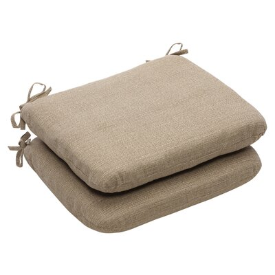 Outdoor Dining Chair Cushion Fabric: Taupe Textured Solid