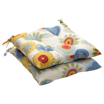 Outdoor Lounge Chair Cushion Fabric: Multicolored Floral