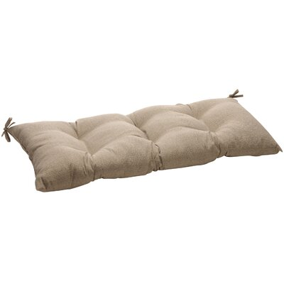 Outdoor Loveseat Cushion Fabric: Taupe Textured Solid
