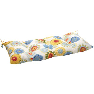 Floral Outdoor Loveseat Cushion Fabric: Multicolored Floral