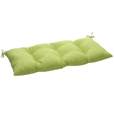 Outdoor Loveseat Cushion Fabric: Green Textured Solid