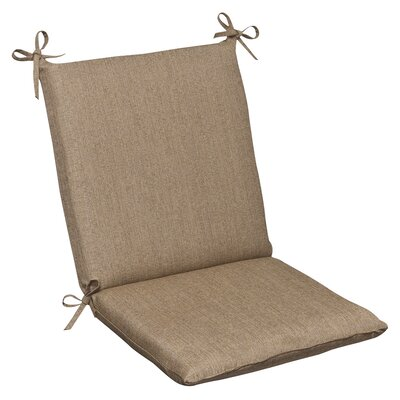 Outdoor Sunbrella Dining Chair Cushion Color: Tan Textured Solid