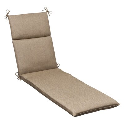 Outdoor Sunbrella Chaise Lounge Cushion Color: Tan Textured Solid