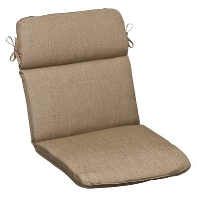Outdoor Sunbrella Lounge Chair Cushion Color: Tan Textured Solid
