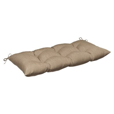 Outdoor Sunbrella Loveseat Cushion Color: Tan Textured Solid
