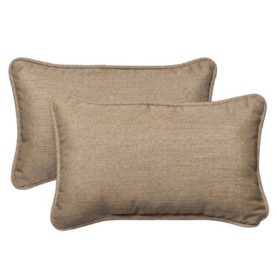 Outdoor Sunbrella Lumbar Pillow Size: 11.5 W, Color: Tan Textured Solid