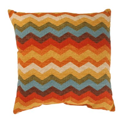 Panama Wave Cotton Throw Pillow Size: 18 x 18