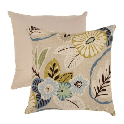Tropical Cotton Throw Pillow Size: 18 x 18, Color: Beige