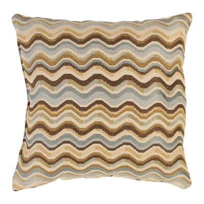 Wave Throw Pillow Size: 16.5 x 16.5