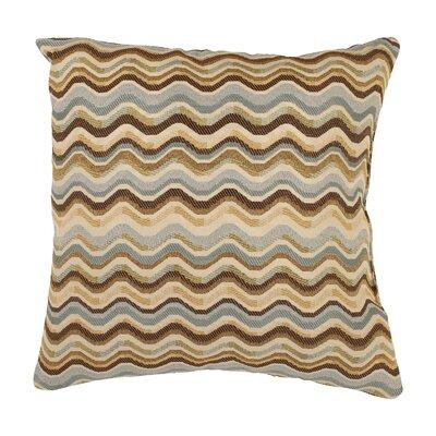 Wave Throw Pillow Size: 18 x 18
