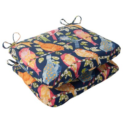 Ash Hill Outdoor Seat Cushion Color: Blue / Green / Orange / Red