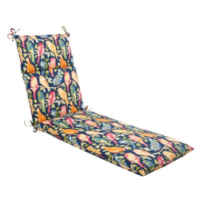 Ash Hill Outdoor Chaise Lounge Cushion Color: Blue / Green / Orange / Red