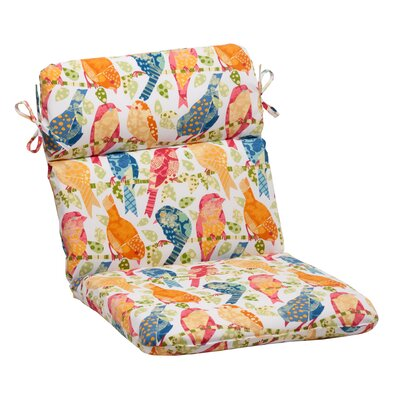 Ash Hill Outdoor Chair Cushion Color: White / Orange / Green / Blue
