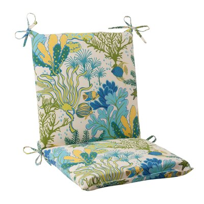 Splish Splash Outdoor Chair Cushion Color: Cream / Green / Blue / Turquoise