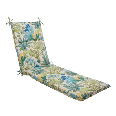Splish Splash Outdoor Chaise Lounge Cushion Color: Cream / Green / Blue / Turquoise