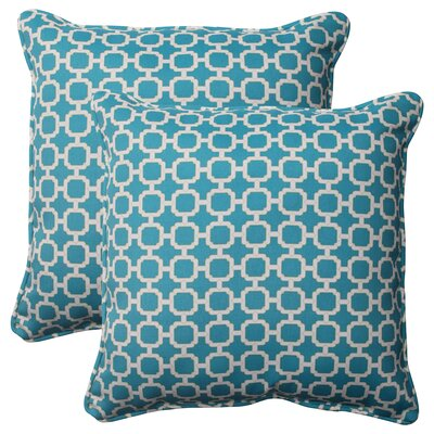 Hockley Corded Outdoor Throw Pillow Color: Teal