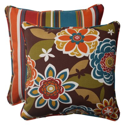 Annie / Westport Reversible Corded Outdoor Throw Pillow