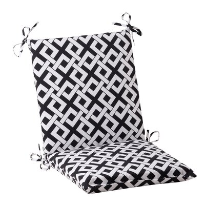 Pillow Perfect Boxin Chair Cushion - Color: Black / White