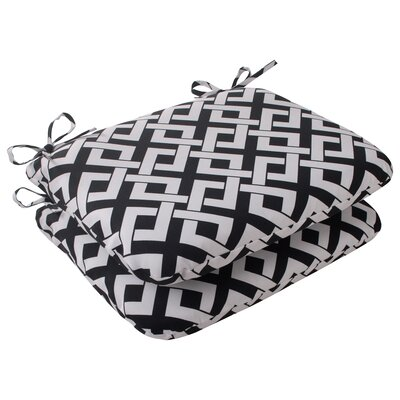 Boxin Outdoor Seat Cushion Color: Black / White