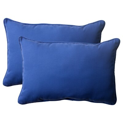 Claiborne Corded Indoor/Outdoor Lumbar Pillow Size: 5 H x 16.5 W x 24.5 D, Color: Navy