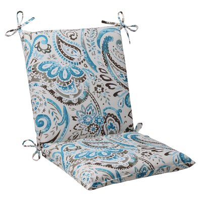 Paisley Outdoor Chair Cushion Color: Gray / Turquoise