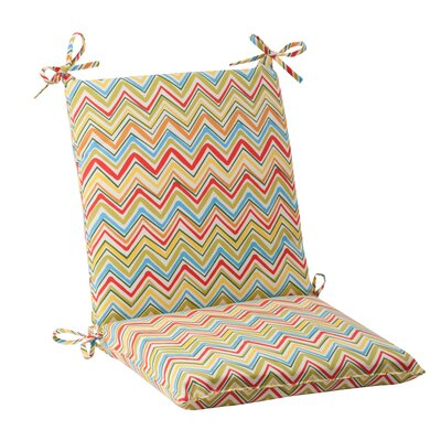 Pillow Perfect Cosmo Chevron Chair Cushion - Color: Red / Green / Off-White / Orange / Yellow at Sears.com