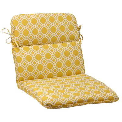 Rossmere Outdoor Chair Cushion Color: Yellow / White