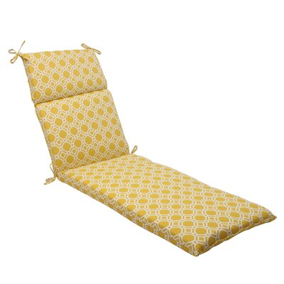 Rossmere Outdoor Chaise Lounge Cushion Color: Yellow / White