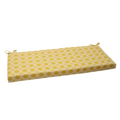 Rossmere Outdoor Bench Cushion Color: Yellow / White