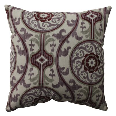Suzani Cotton Throw Pillow Size: 23 H x 23 W x 5 D, Color: Plum