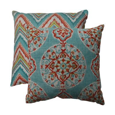 Mirage and Chevron Throw Pillow Size: 16.5 W x 16.5 D