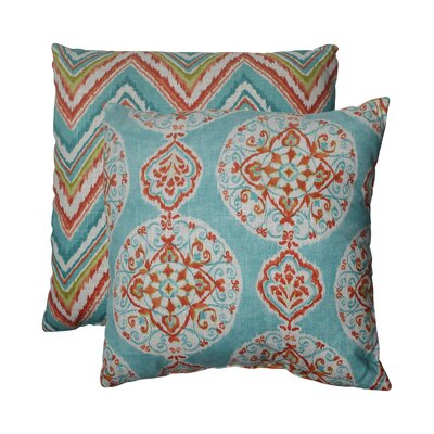 Mirage and Chevron Throw Pillow Size: 18 W x 18 D